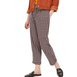 ✨New! TOPSHOP Tapered Checkered Trousers